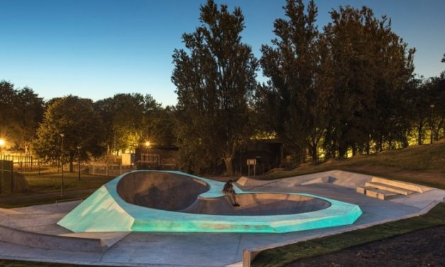 Outdoor design sees the birth of a glow in the dark skatepark in Liverpool