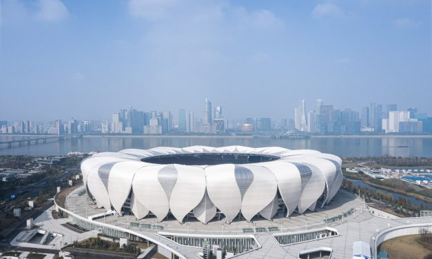NBBJ models Hangzhou Olympic Sports Center stadium on lotus flowers
