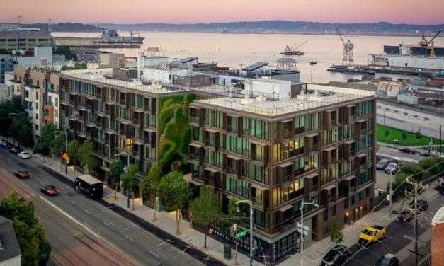 Green wall grows five storeys up San Francisco apartment block